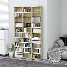 Zqyrlar - CD Cabinet White and Sonoma Oak