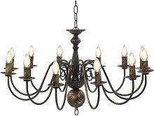 Zqyrlar - Chandelier Antique Black 12 x E14 Bulbs