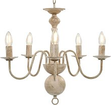 Zqyrlar - Chandelier Antique White 5 x E14 Bulbs -