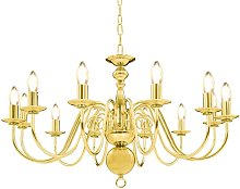 Zqyrlar - Chandelier Golden 12 x E14 Bulbs - Gold