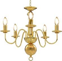Zqyrlar - Chandelier Golden 5 x E14 Bulbs - Gold