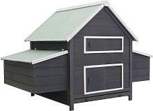 Zqyrlar - Chicken Coop Grey 157x97x110 cm Wood -