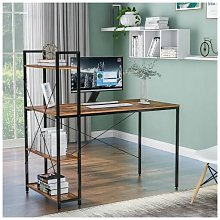 Zqyrlar - Computer Desk with 4 Tier Storage