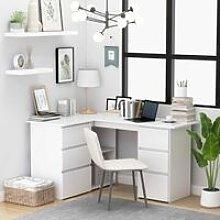 Zqyrlar - Corner Desk White 145x100x76 cm