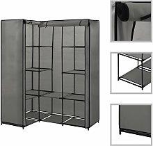 Zqyrlar - Corner Wardrobe Grey 130x87x169 cm - Grey