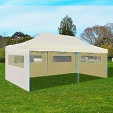 Zqyrlar - Cream Foldable Pop-up Party Tent 3 x 6 m