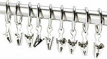 Zqyrlar - Curtain ring set, with clip, 2.5 cm,