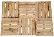 Zqyrlar - Decking Tiles 6 pcs 50x50 cm Wood Brown
