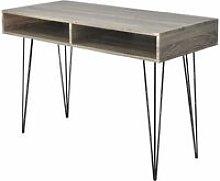 Zqyrlar - Desk with 2 Compartments Grey -