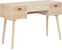 Zqyrlar - Desk with 5 Drawers 114x40x75.5 cm Solid
