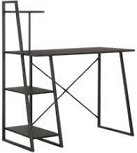 Zqyrlar - Desk with Shelving Unit Black 102x50x117