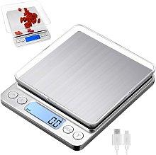 Zqyrlar - Digital kitchen scale with USB charging,
