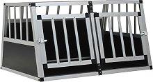 Zqyrlar - Dog Cage with Double Door 89x69x50 cm -