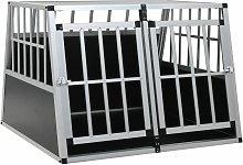 Zqyrlar - Dog Cage with Double Door 94x88x69 cm -