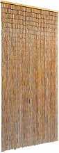 Zqyrlar - Door Curtain Bamboo 90x200 cm - Brown