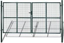 Zqyrlar - Double Door Fence Gate Powder-Coated