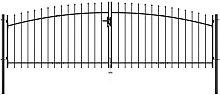 Zqyrlar - Double Door Fence Gate with Spear Top