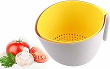 Zqyrlar - Double Layer Plastic Kitchen Drain Basket