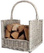 Zqyrlar - Esschert Design Firewood Basket Grey