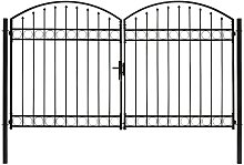 Zqyrlar - Fence Gate Double Door with Arched Top
