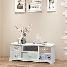 Zqyrlar - French TV Cabinet Wood - White