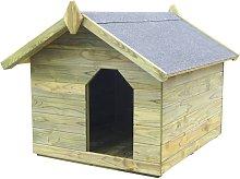 Zqyrlar - Garden Dog House with Opening Roof