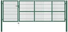 Zqyrlar - Garden Fence Gate with Posts 350x100 cm