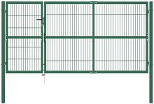 Zqyrlar - Garden Fence Gate with Posts 350x140 cm
