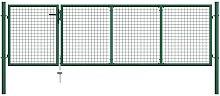 Zqyrlar - Garden Gate Steel 350x100 cm Green -