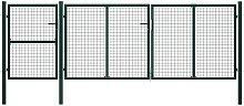 Zqyrlar - Garden Gate Steel 400x125 cm Green -