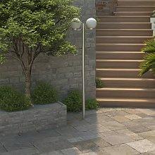 Zqyrlar - Garden Lamp Post 2 Lamps 220cm - White