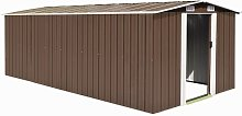 Zqyrlar - Garden Shed 257x497x178 cm Metal Brown -