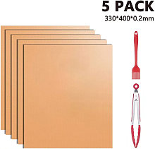 Zqyrlar - Grill Mat Set of 5 Reusable Non-Stick