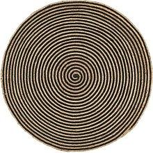 Zqyrlar - Handmade Rug Jute with Spiral Design