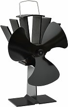 Zqyrlar - Heat Powered Stove Fan 3 Blades Black -