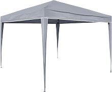 Zqyrlar - HI Foldable Party Tent 3x3 m Grey - Grey