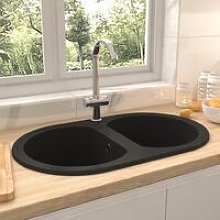 Zqyrlar - Kitchen Sink Double Basins Oval Black
