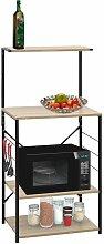 Zqyrlar - Microwave Cabinet Black and Oak
