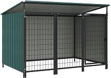 Zqyrlar - Outdoor Dog Kennel 193x133x116 cm - Green