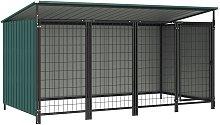 Zqyrlar - Outdoor Dog Kennel 253x133x116 cm - Green