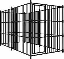 Zqyrlar - Outdoor Dog Kennel 300x150x185 cm - Black