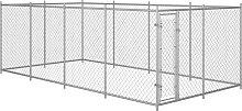 Zqyrlar - Outdoor Dog Kennel 8x4x2 m - Silver