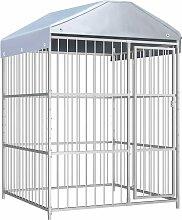 Zqyrlar - Outdoor Dog Kennel with Roof 150x150x200