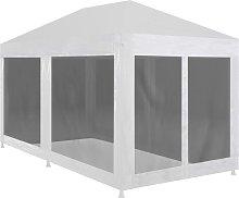 Zqyrlar - Party Tent with 6 Mesh Sidewalls 6x3 m -