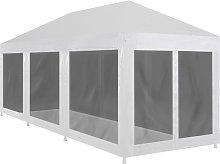 Zqyrlar - Party Tent with 8 Mesh Sidewalls 9x3 m -