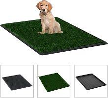 Zqyrlar - Pet Toilet with Tray & Faux Turf Green