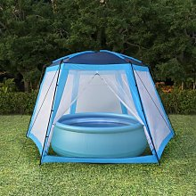 Zqyrlar - Pool Tent Fabric 590x520x250 cm Blue -