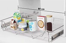 Zqyrlar - Pull-Out Wire Baskets 2 pcs Silver 800