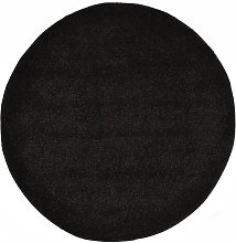Zqyrlar - Shaggy Area Rug 120 cm Black - Black