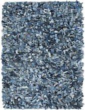 Zqyrlar - Shaggy Rug Denim 160x230 cm Blue - Blue